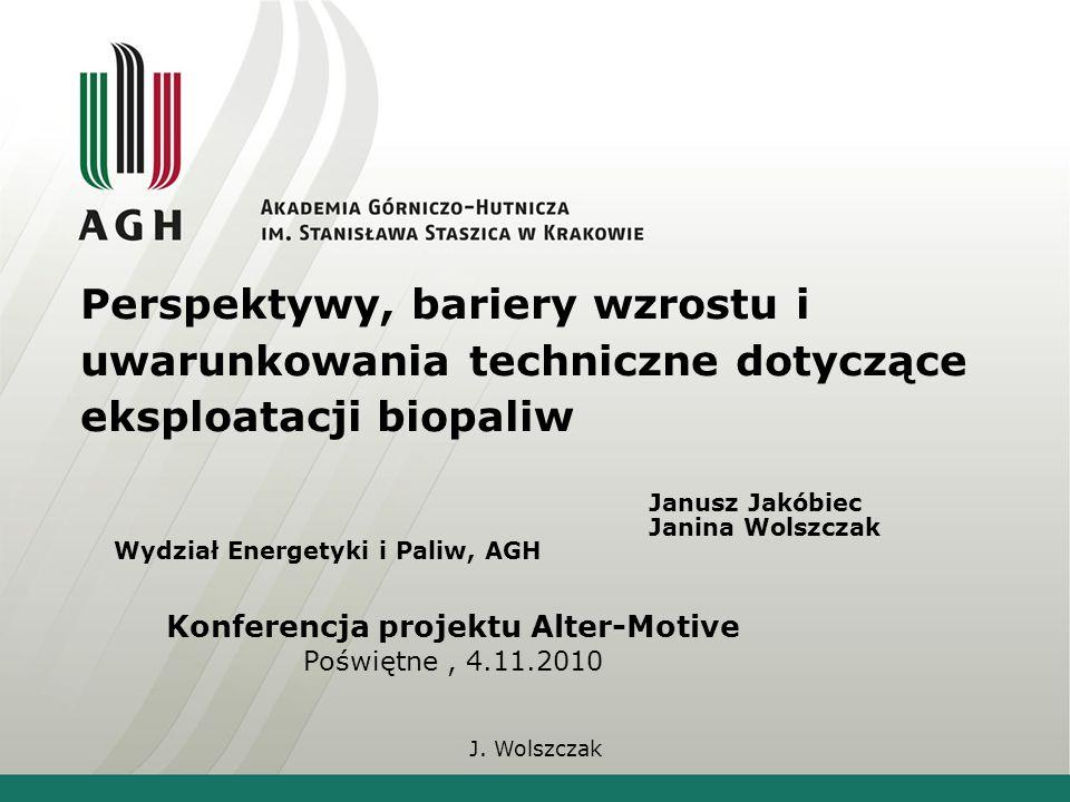J.Wolszczak Struktura zużycia energii pierwotnej w krajach UE i w Polsce Źródło: T.