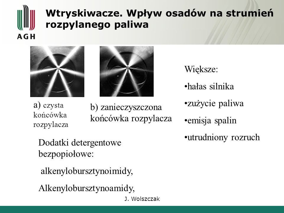 J. Wolszczak Wtryskiwacze.