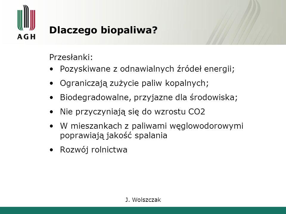 J. Wolszczak Dlaczego biopaliwa.