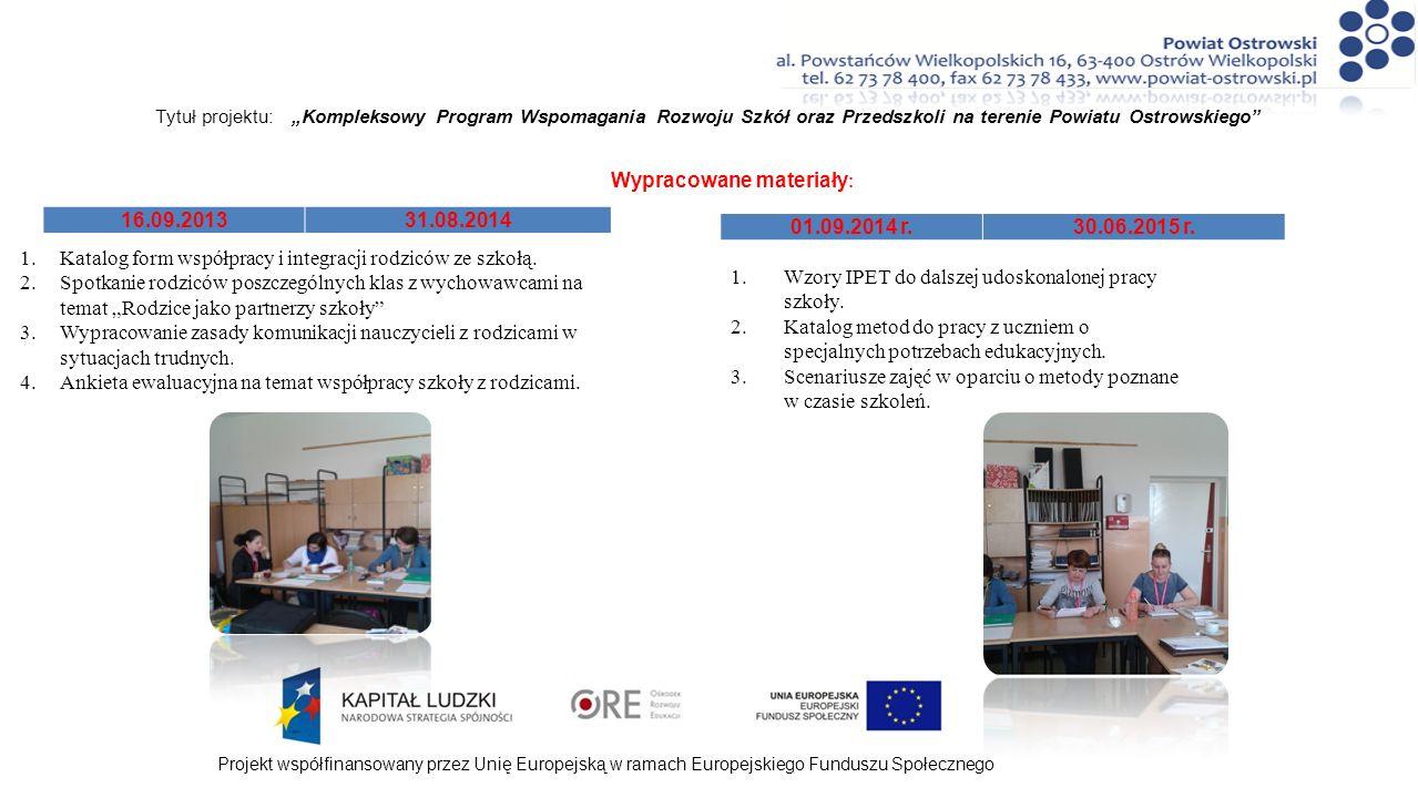 1.Katalog form współpracy i integracji rodziców ze szkołą.