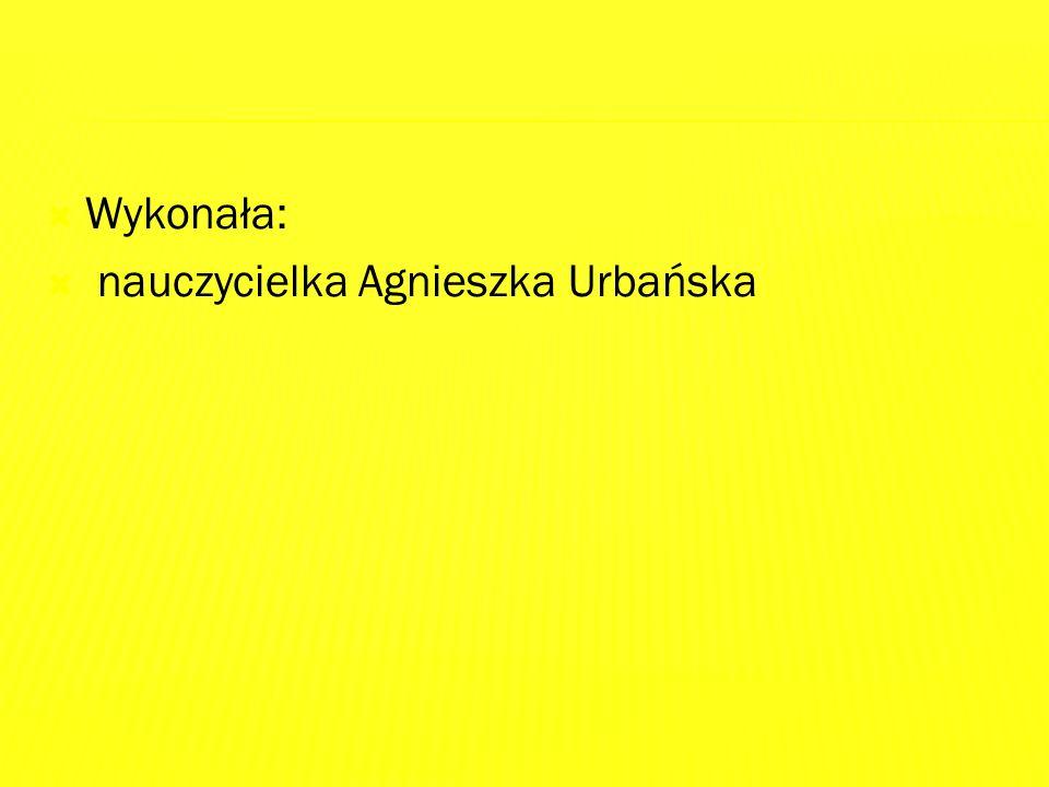  Wykonała:  nauczycielka Agnieszka Urbańska