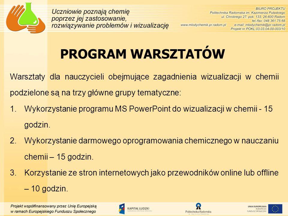 Wykorzystanie programu MS PowerPoint do tworzenia wizualizacji w chemii Prezentacja multimedialna jest audiowizualną formą przekazywania informacji, postacią wypowiedzi, której treść jest ilustrowana opracowanymi komputerowo elementami multimedialnymi, takimi jak rysunki, zdjęcia, dźwięki, animacje, filmy.