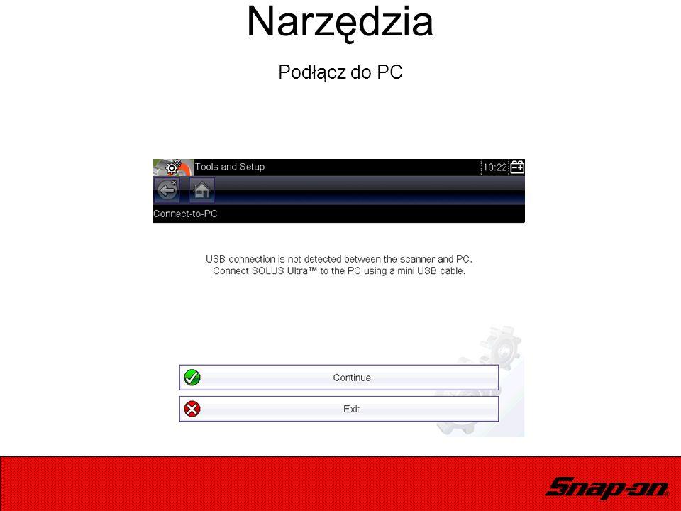Narzędzia Podłącz do PC