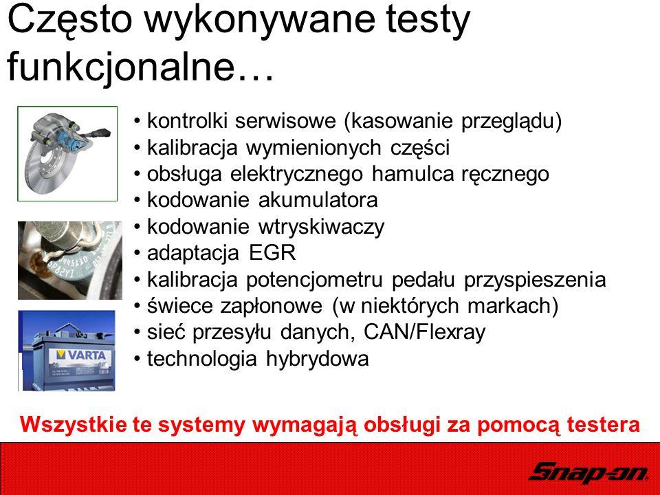 kontrolki serwisowe (kasowanie przeglądu) kalibracja wymienionych części obsługa elektrycznego hamulca ręcznego kodowanie akumulatora kodowanie wtrysk