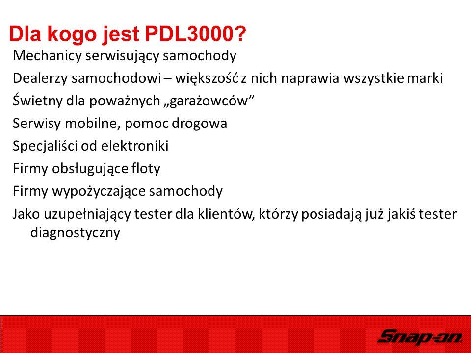 """Dla kogo jest PDL3000? Mechanicy serwisujący samochody Dealerzy samochodowi – większość z nich naprawia wszystkie marki Świetny dla poważnych """"garażow"""