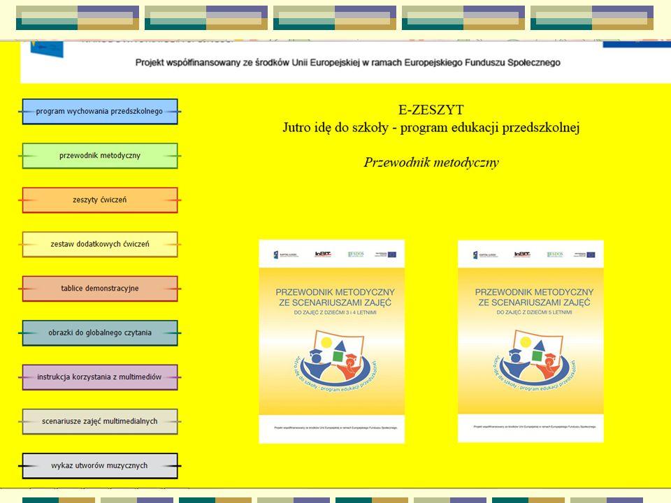 Strony internetowe www.jutroidedoszkoly.fados.pl www.przedszkoleprzyszlosci.fados.pl www.scholaris.pl kiddoland.onet.pl/gry-sowki-madrusi/na- literke www.buliba.pl www.zyrafa.pl