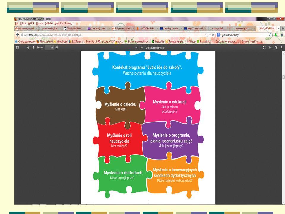 Korzyści i profity Tablica interaktywna Projektor Wizualizer Komputer Przewodniki Karty pracy Maskotki Tablice demonstracyjne Koszulki Napisy E-zeszyt Aplikacje multimedialne inne