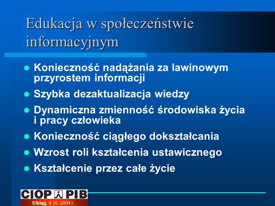 Elbląg, 4.10. 2004 r. Środki multimedialne w edukacji: grafika…..