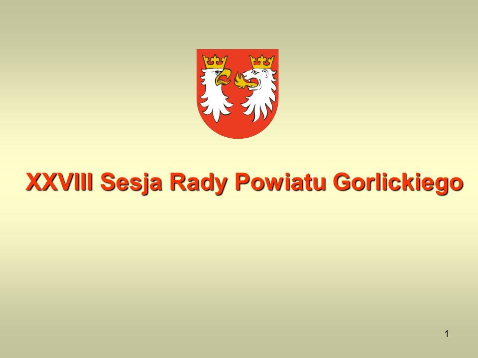 1 XXVIII Sesja Rady Powiatu Gorlickiego