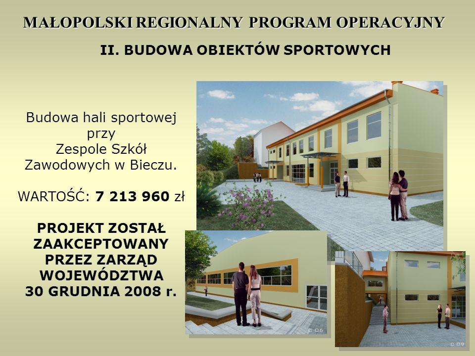 20 MAŁOPOLSKI REGIONALNY PROGRAM OPERACYJNY II.