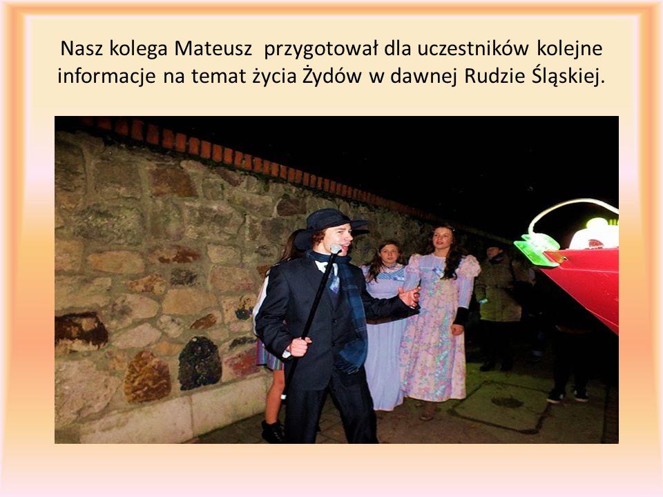 Nasz kolega Mateusz przygotował dla uczestników kolejne informacje na temat życia Żydów w dawnej Rudzie Śląskiej.