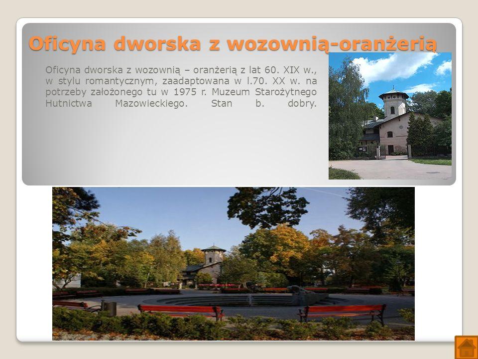Oficyna dworska z wozownią-oranżerią Oficyna dworska z wozownią – oranżerią z lat 60.