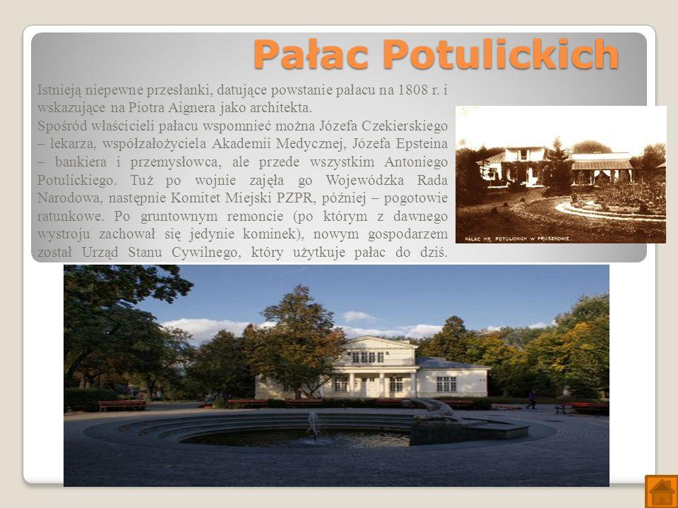 Pałac Potulickich Istnieją niepewne przesłanki, datujące powstanie pałacu na 1808 r.