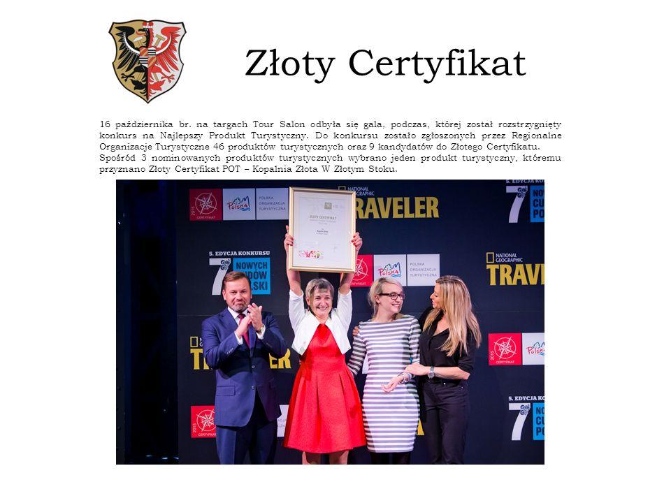 Złoty Certyfikat 16 października br.