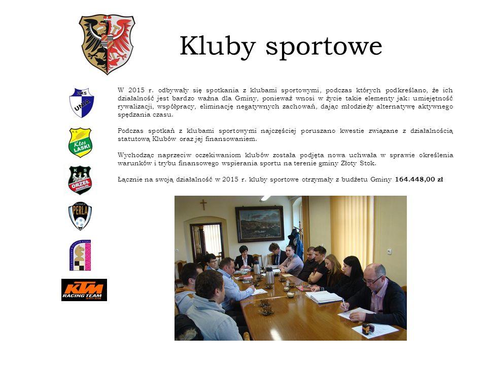 Kluby sportowe W 2015 r.