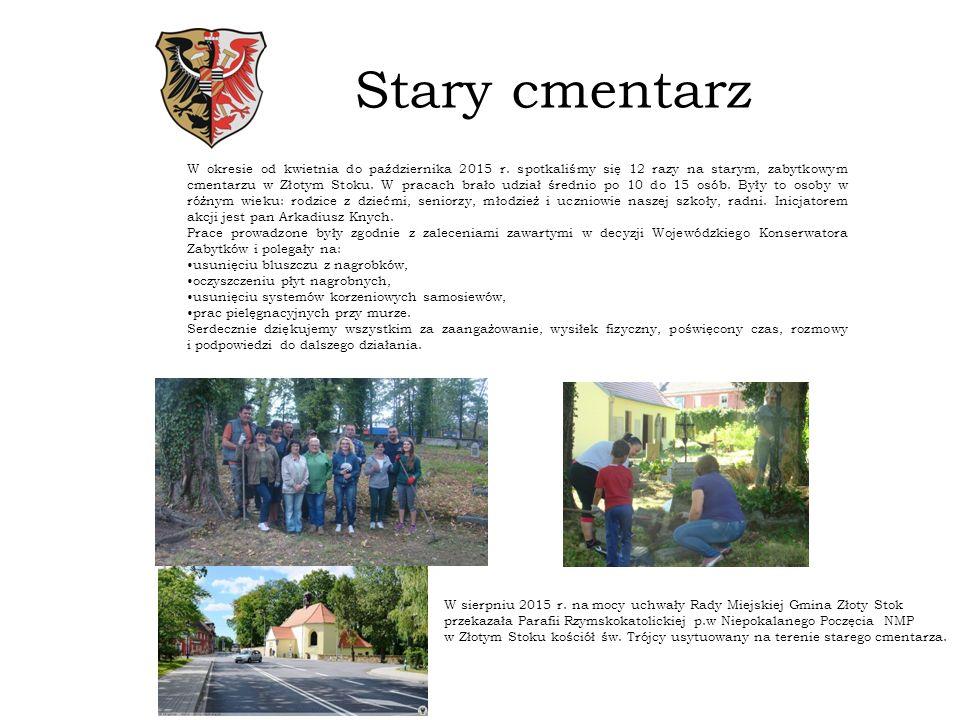 Stary cmentarz W okresie od kwietnia do października 2015 r.