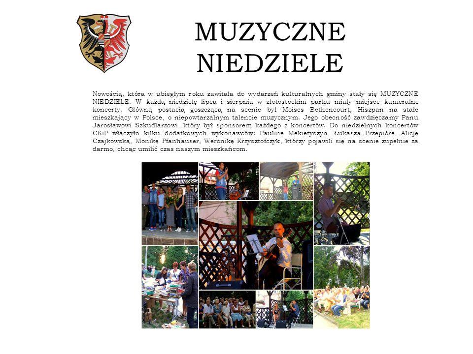 MUZYCZNE NIEDZIELE Nowością, która w ubiegłym roku zawitała do wydarzeń kulturalnych gminy stały się MUZYCZNE NIEDZIELE.