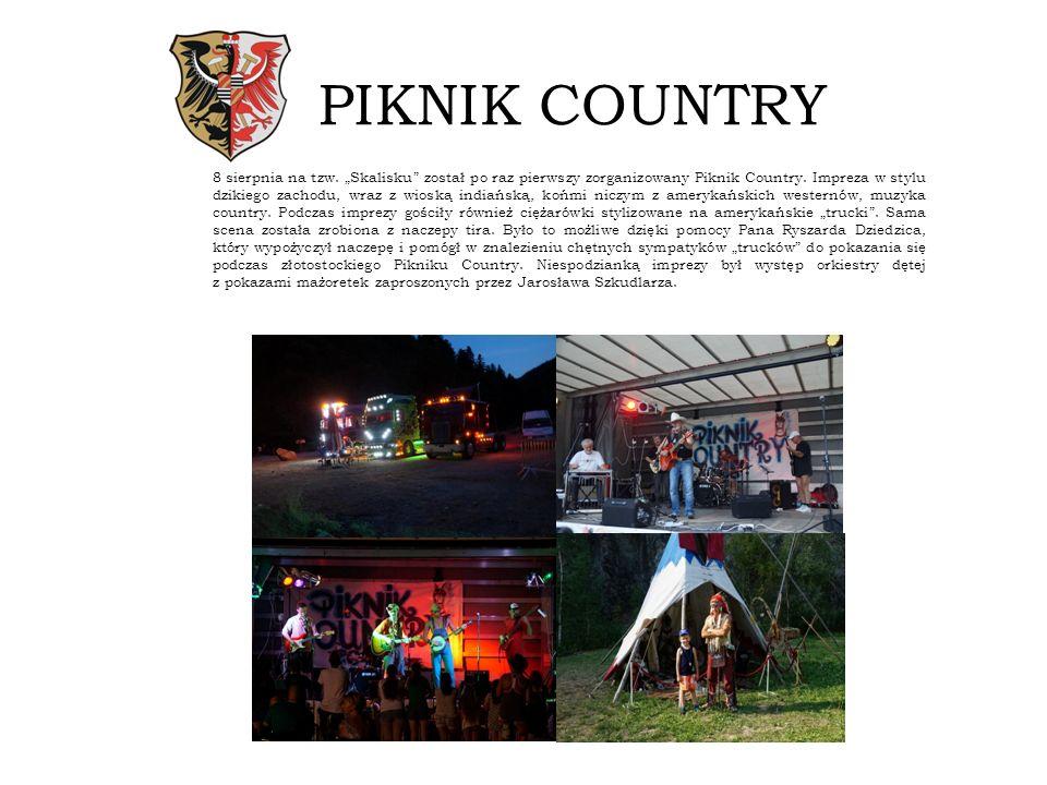 """PIKNIK COUNTRY 8 sierpnia na tzw.""""Skalisku został po raz pierwszy zorganizowany Piknik Country."""