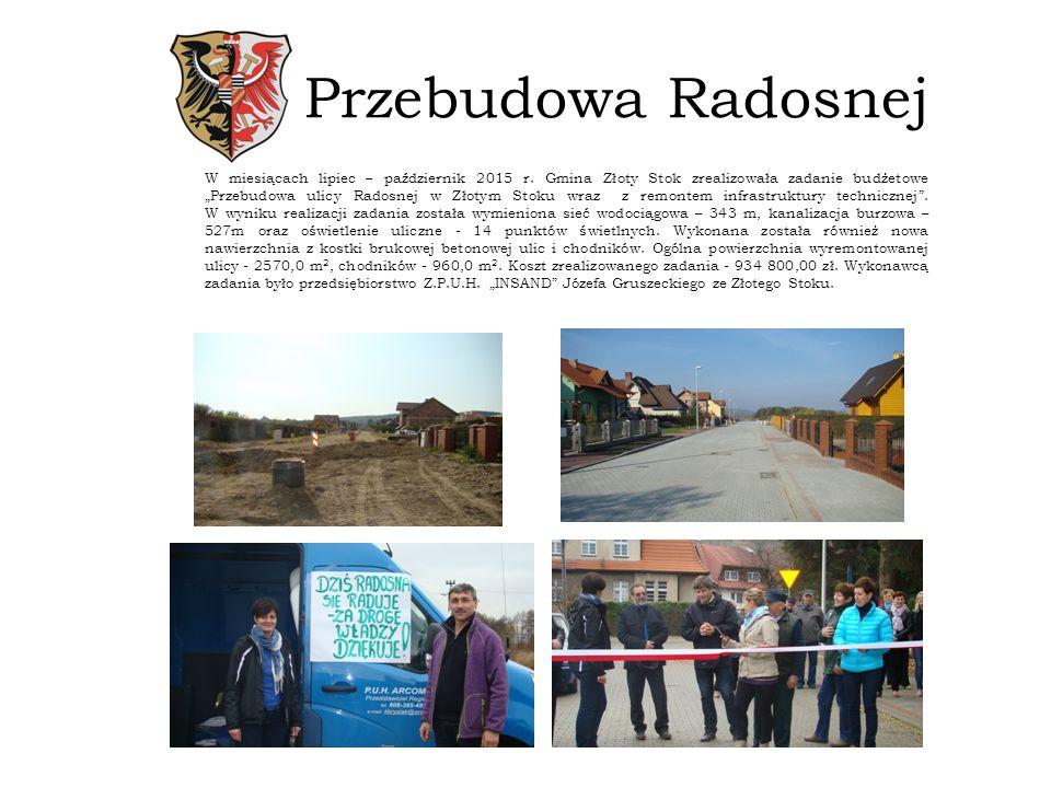 Przebudowa Radosnej W miesiącach lipiec – październik 2015 r.