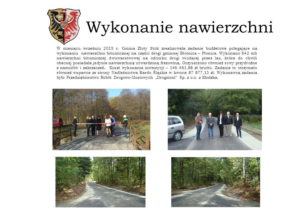 Droga w Mąkolnie W miesiącu marcu i kwietniu 2015 r.