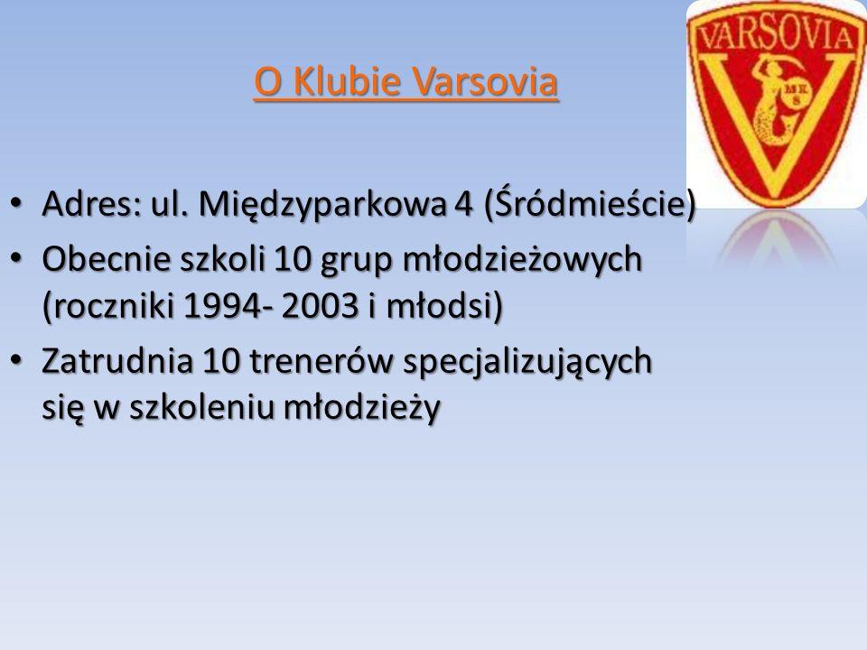 O Klubie Varsovia Adres: ul. Międzyparkowa 4 (Śródmieście) Adres: ul.