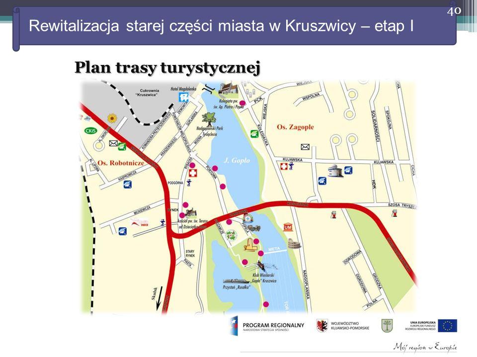 Rewitalizacja starej części miasta w Kruszwicy – etap I 40 Plan trasy turystycznej
