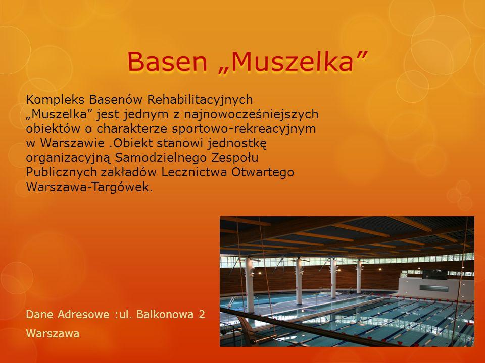"""Kompleks Basenów Rehabilitacyjnych """"Muszelka"""" jest jednym z najnowocześniejszych obiektów o charakterze sportowo-rekreacyjnym w Warszawie.Obiekt stano"""