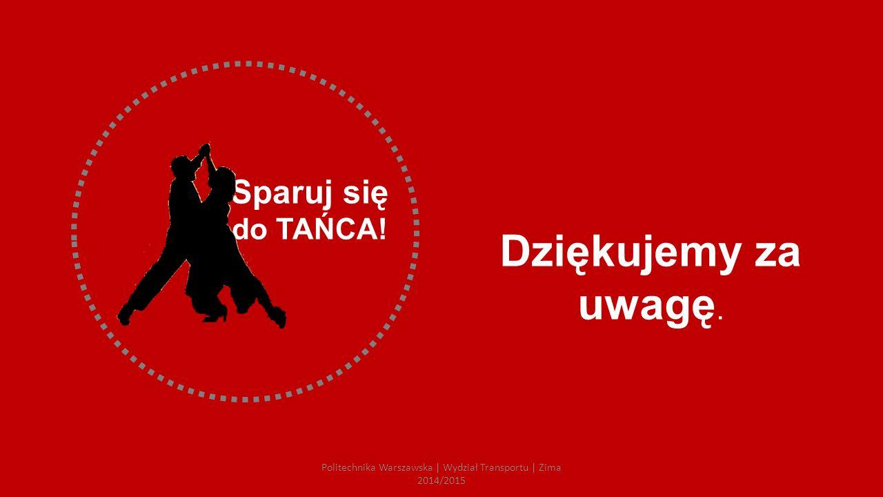 Sparuj się do TAŃCA! Dziękujemy za uwagę. Politechnika Warszawska | Wydział Transportu | Zima 2014/2015
