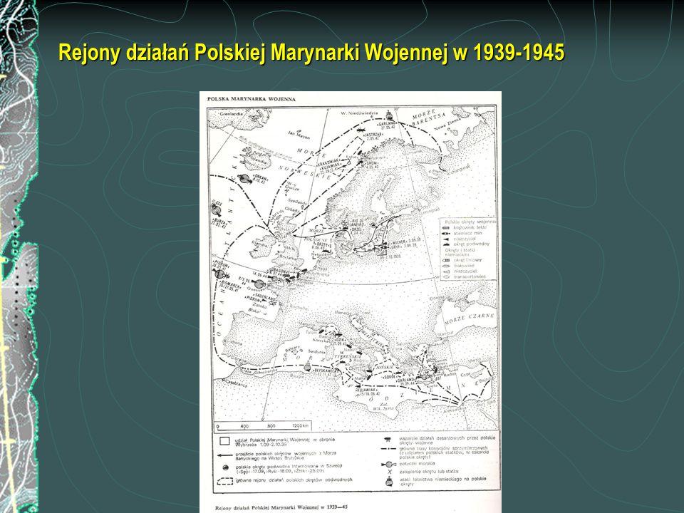 Rejony działań Polskiej Marynarki Wojennej w 1939-1945
