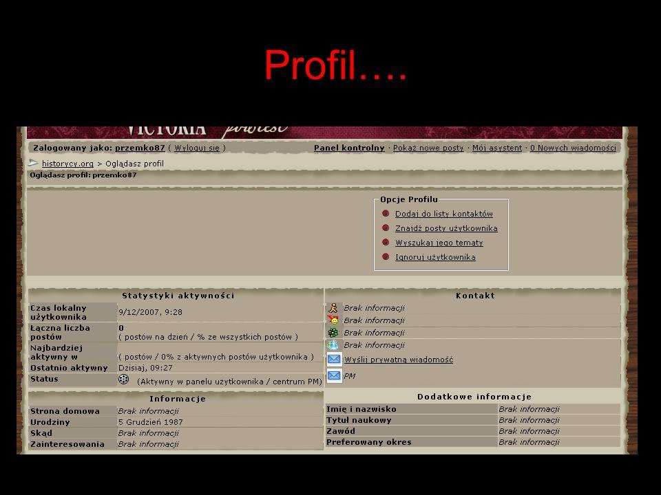 Profil….