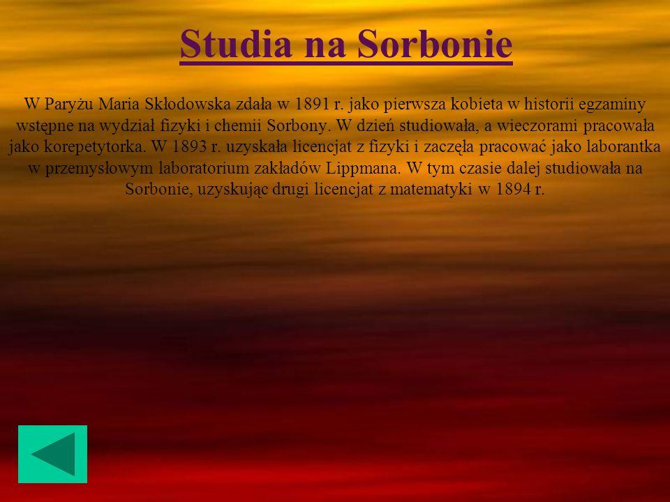 Pytanie nr 6 Na co zmarła Maria Skłodowska Curie .