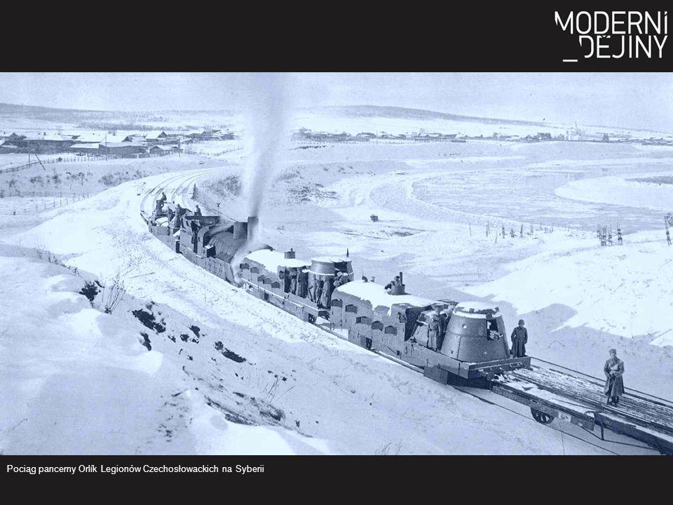 Pociąg pancerny Orlík Legionów Czechosłowackich na Syberii