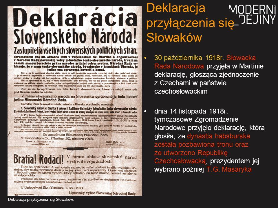 Deklaracja przyłączenia się Słowaków 30 października 1918r.