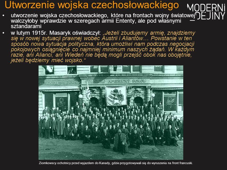 na początku Legiony formowano z Czechów mieszkających za granicą.