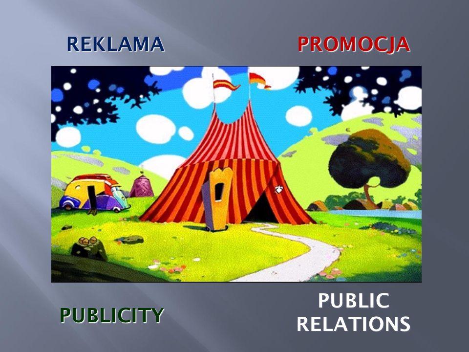 REKLAMAPROMOCJA PUBLICITY PUBLIC RELATIONS