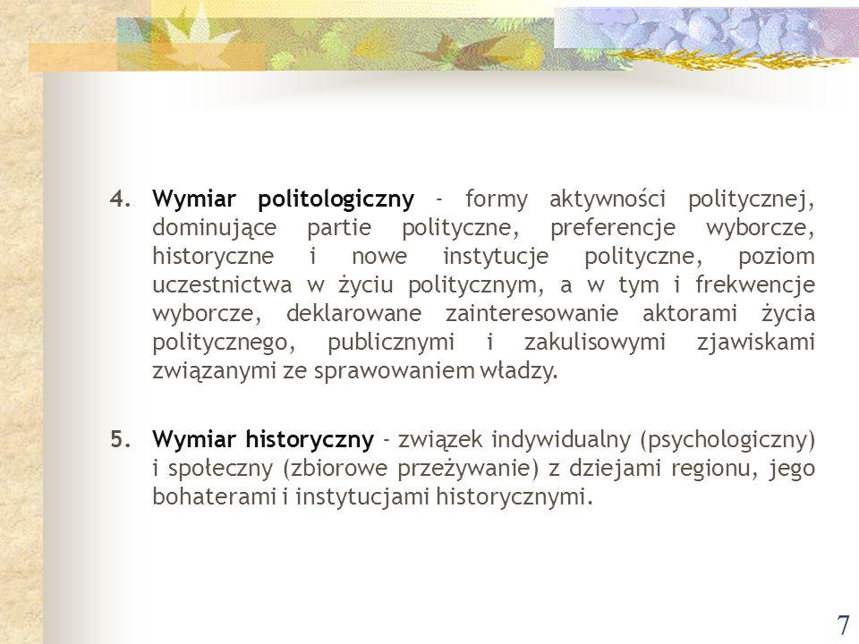 8 6.Wymiar antropologiczny i etnograficzny - świadomość dziedzictwa kulturowego, rozumienie i odczytywanie znaczeń, symboli kultury materialnej oraz jej korelatów.