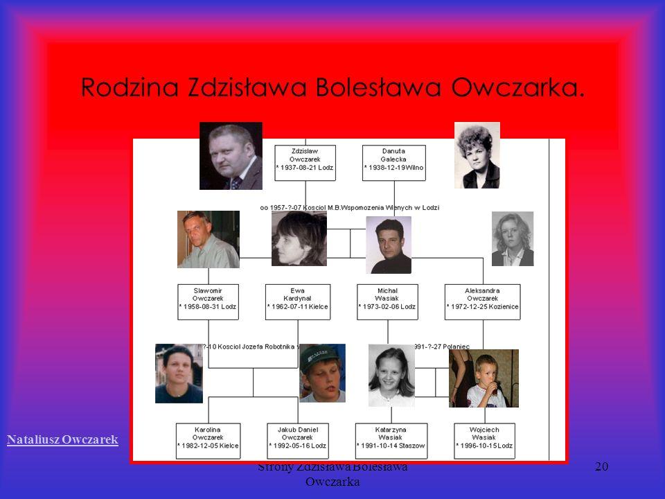 Strony Zdzisława Bolesława Owczarka 20 Rodzina Zdzisława Bolesława Owczarka. Nataliusz Owczarek