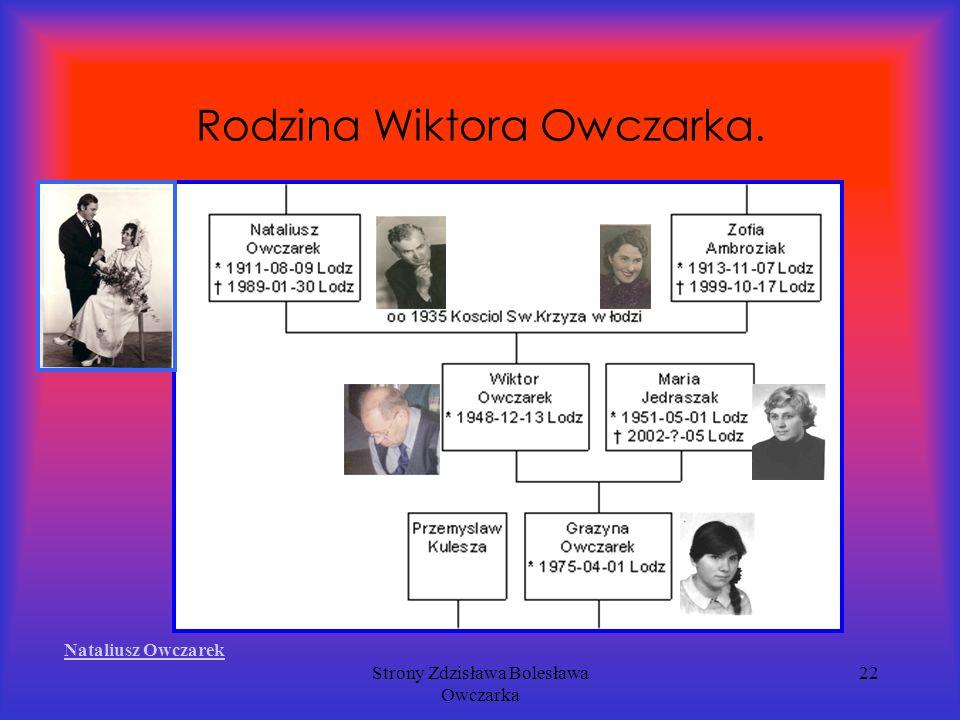 Strony Zdzisława Bolesława Owczarka 22 Rodzina Wiktora Owczarka. Nataliusz Owczarek