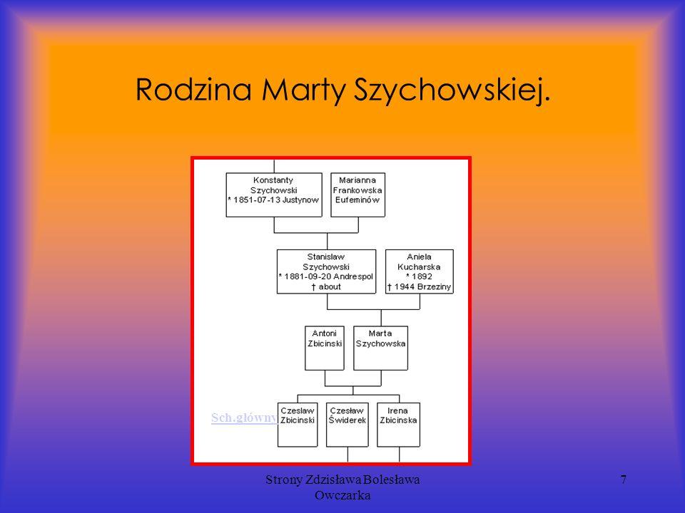 Strony Zdzisława Bolesława Owczarka 7 Rodzina Marty Szychowskiej. Sch.główny