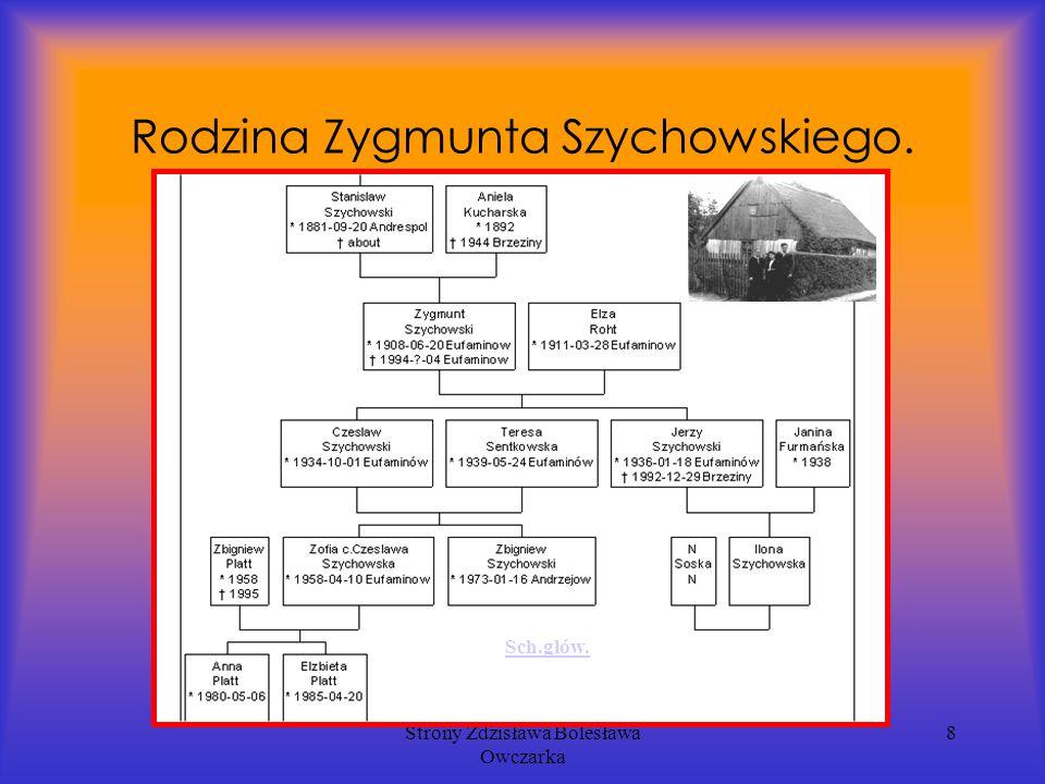 Strony Zdzisława Bolesława Owczarka 8 Rodzina Zygmunta Szychowskiego. Sch.głów.