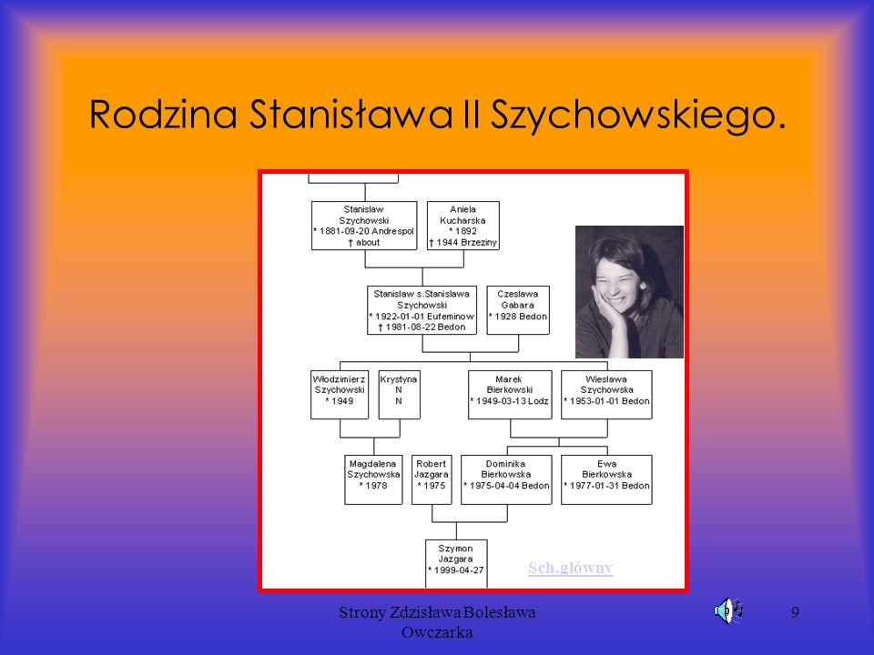 Strony Zdzisława Bolesława Owczarka 9 Rodzina Stanisława II Szychowskiego. Sch.główny