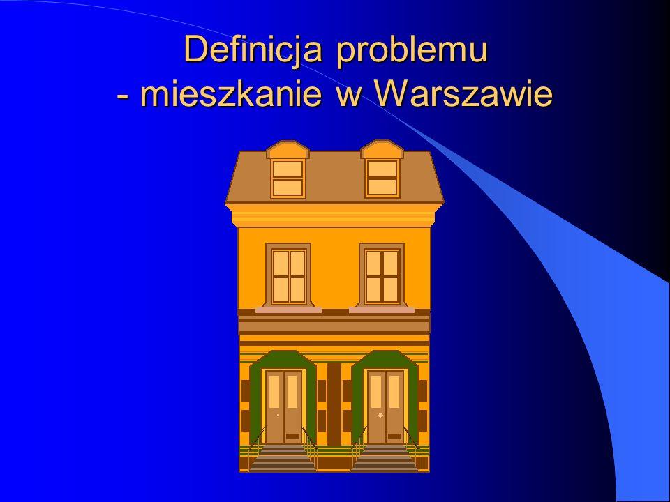 Definicja problemu - mieszkanie w Warszawie