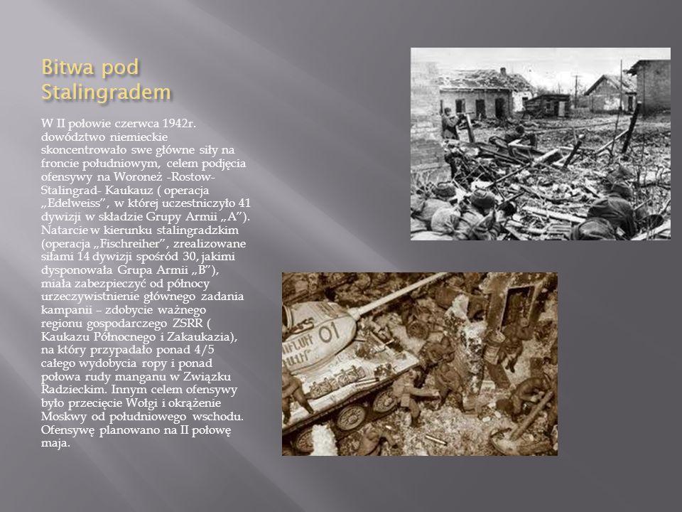 Bitwa pod Stalingradem W II połowie czerwca 1942r.