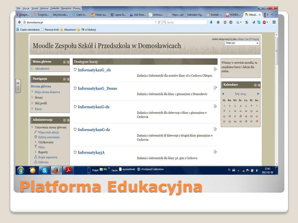 E-Sekretariat narzędzie działające w technologii SaaS (oprogramowanie jako usługa); prowadzenie księgi ewidencyjnej i księgi Ucznia; możliwość prowadzenia wewnętrznej rekrutacji; tworzenie i drukowanie niezbędnych dokumentów (legitymacje, zaświadczenia, zestawienia, raporty); tworzenie rejestrów dokumentów, osób i zdarzeń; eksport danych do SIO, Hermes; import/eksport danych z/do dowolnego systemu w formacie SOU; współpraca z dowolnym systemem operacyjnym; integracja z pozostałymi aplikacjami systemu