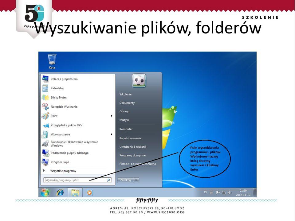 Wyszukiwanie plików, folderów