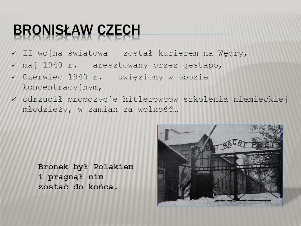 II wojna światowa - został kurierem na Węgry, maj 1940 r. – aresztowany przez gestapo, Czerwiec 1940 r. – uwięziony w obozie koncentracyjnym, odrzucił