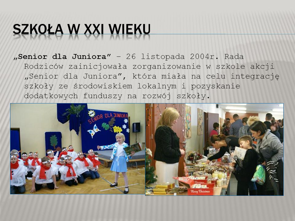 """Senior dla Juniora – 26 listopada 2004r."