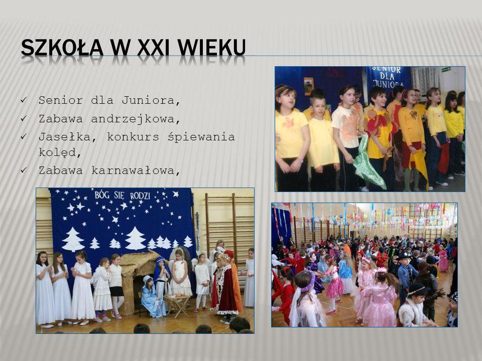 Senior dla Juniora, Zabawa andrzejkowa, Jasełka, konkurs śpiewania kolęd, Zabawa karnawałowa,