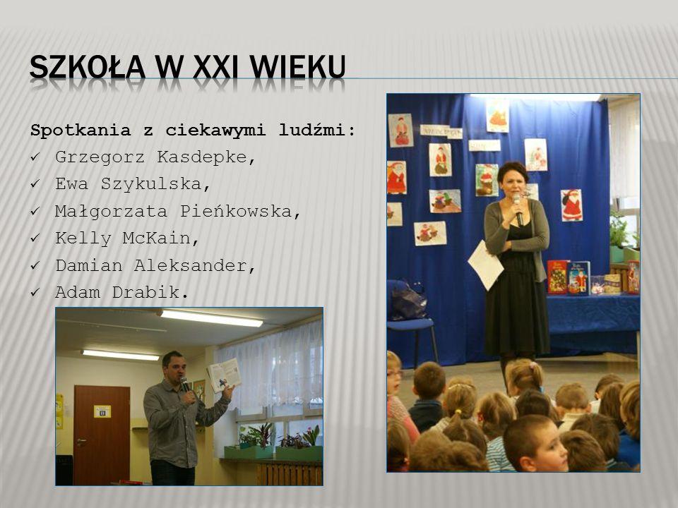 Spotkania z ciekawymi ludźmi: Grzegorz Kasdepke, Ewa Szykulska, Małgorzata Pieńkowska, Kelly McKain, Damian Aleksander, Adam Drabik.