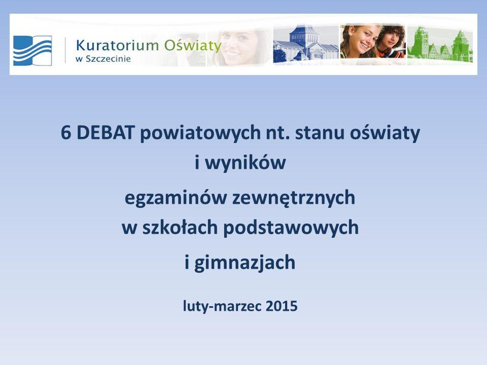 6 DEBAT powiatowych nt.